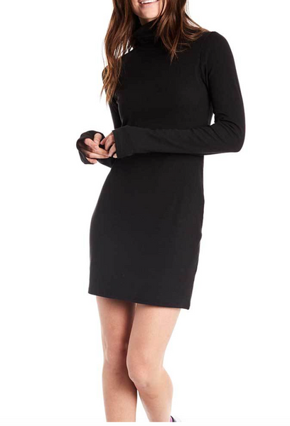 Estilo Austin Turtleneck Dress in Black