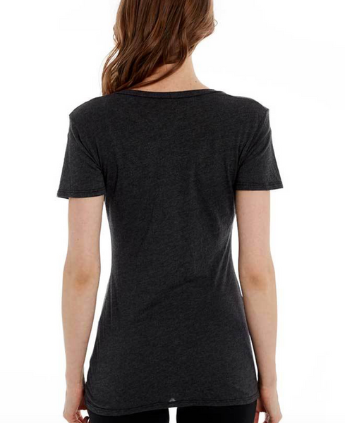 Estilo Austin Classic V Neck T Shirt in Black