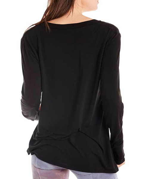 Estilo Austin Cut Out V Neck Top