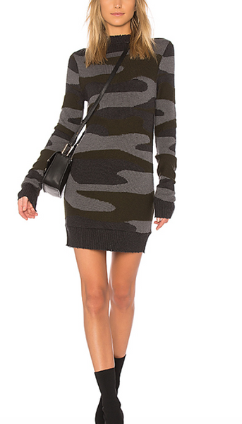 Pam & Gela Bondage Sweater Dress in Camo