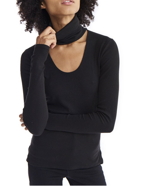 Estilo Austin Oversized Cut out Turtle Neck
