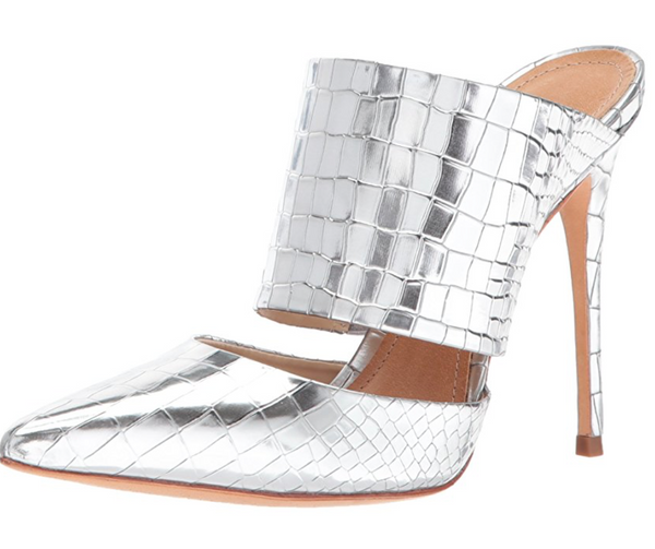 Schutz Crocodile Heeled Mule
