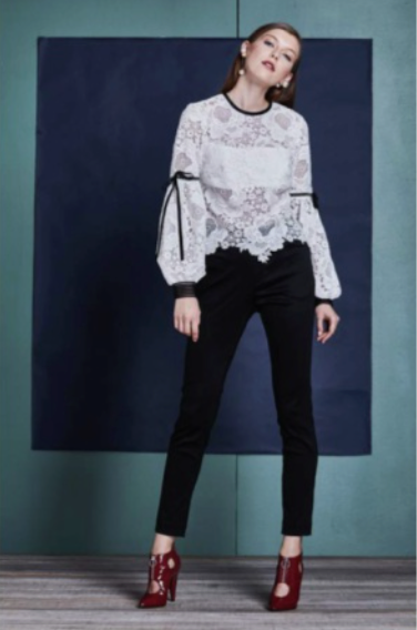 United Wood Elva Lace Top