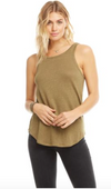 Chaser Linen Jersey Scoop Back Tank