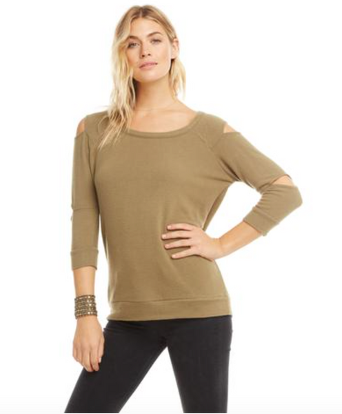 Chaser Pullover with Slit Vent Sleeve
