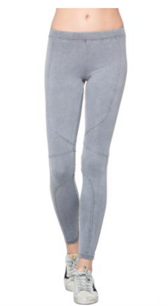 David Lerner Pigment Dye Seamed Legging