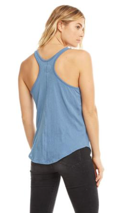 Chaser Cotton Basics Racer Back Tank in Reef