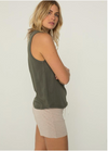 Monrow Relaxed Tank in Evergreen