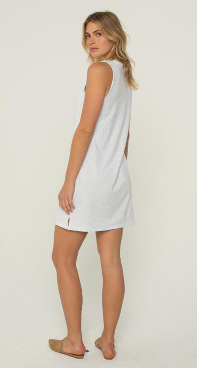 Monrow Tank Dress in White