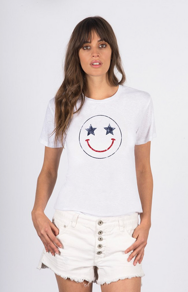 David Lerner Smiley Crew Tee