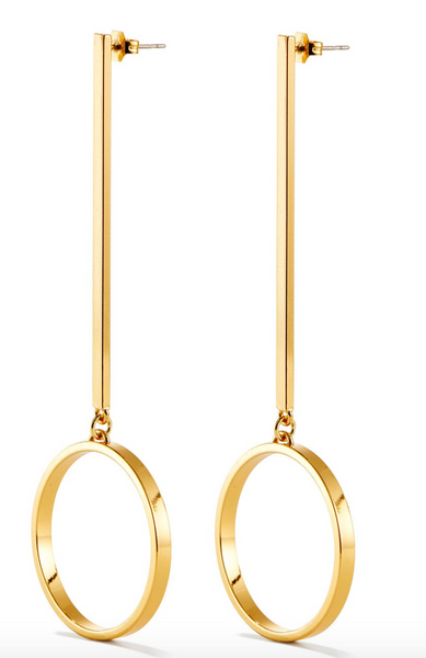 Jenny Bird Edie Hoops in Gold