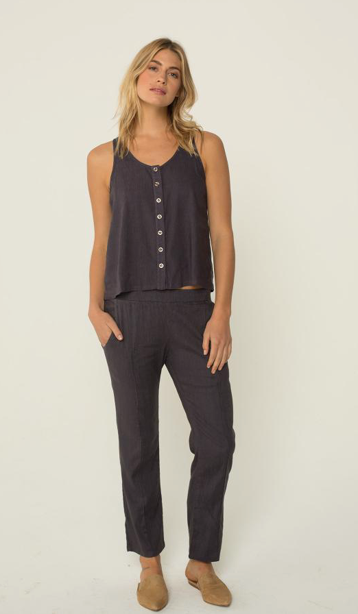 Monrow Button Down Tank