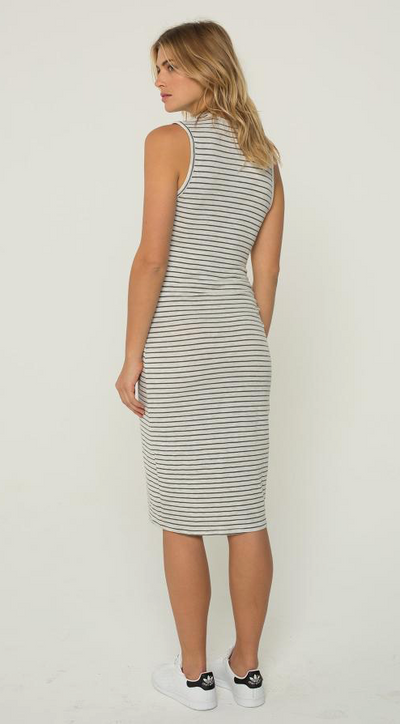 Monrow Supersoft Pinstripe Dress