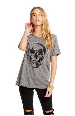 Chaser Star Eyes Skull Tee