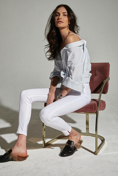 McGuire High Rise Skinny With Slit