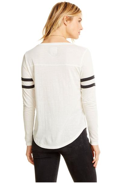 Chaser Blocked Long Sleeve with Contrast Strappings