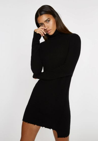 Pam & Gela Destroyed T Neck Dress