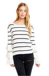 Chaser Rib Tiered Sweater