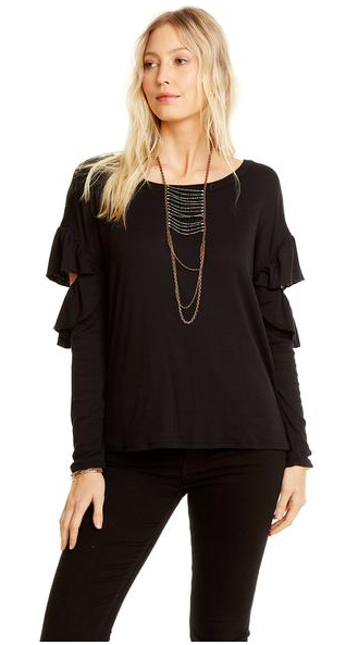 Chaser Vented Ruffle Dolman