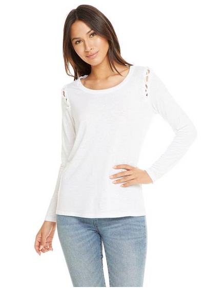 Chaser Lace Up Armhole Top