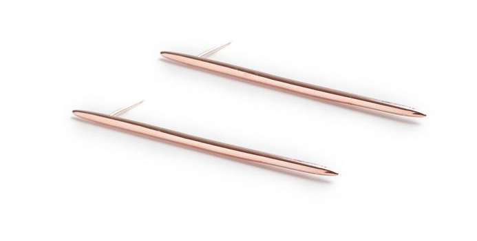 Nina Berenato Spike Earrings in Rosegold