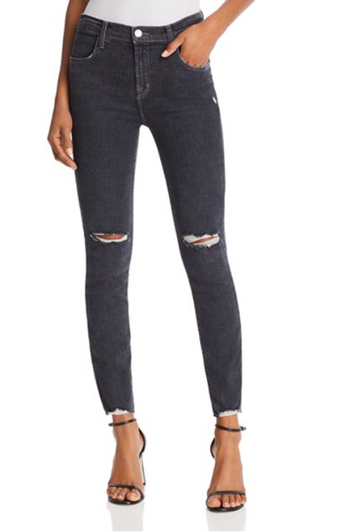 J Brand Alana High Rise in Ashes Destruct