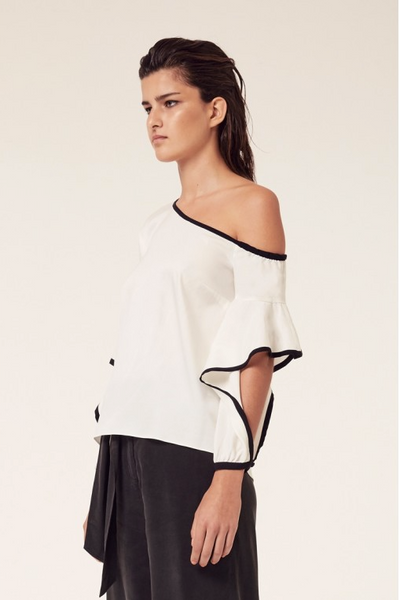 Once Was Cascade Sleeve Top