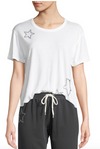 Monrow Athletic Tee with Studded Stars
