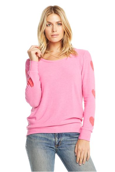 Chaser Heart on Sleeves Top