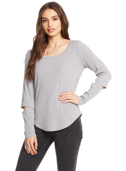 Chaser Vintage Rib Vented Sleeve Top
