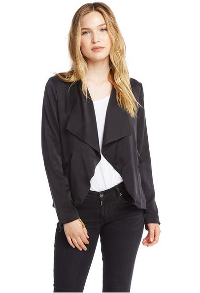 Chaser Open Front Collarless Jacket
