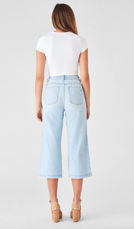 DL1961 Hepburn Cropped Wide Leg Jeans