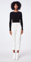 Nicole Miller Cotton Trouser Pants