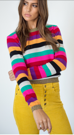 Pam & Gela Striped Sweater with Lurex