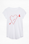 Zadig & Voltaire Skinny Heart Constellation Tee