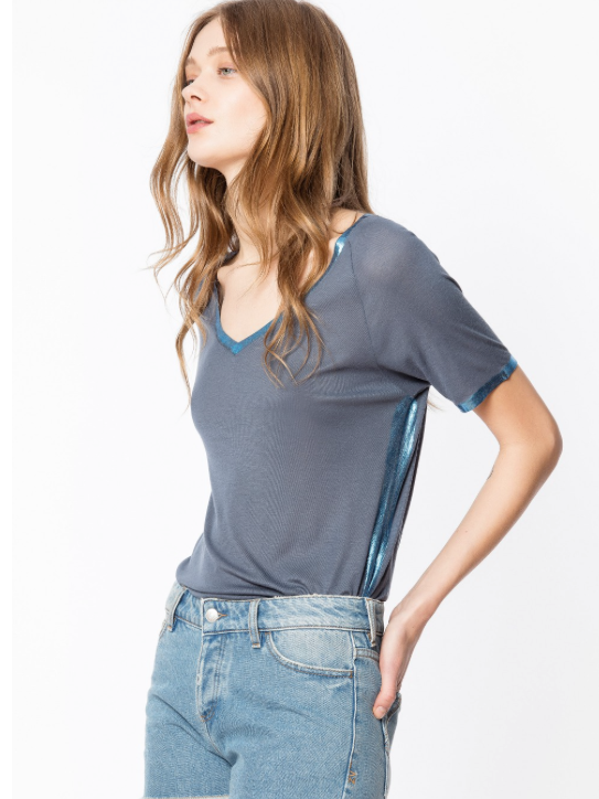 Zadig & Voltaire Margot Foil Top