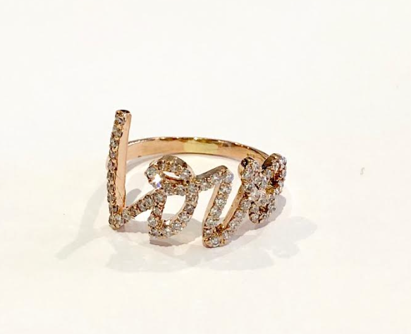 Mizana Rose Gold Love Ring