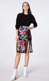 Nicole Miller Faint Flower Embroidered Skirt