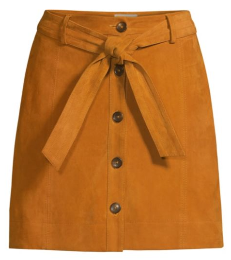 Joie Neida Leather Skirt