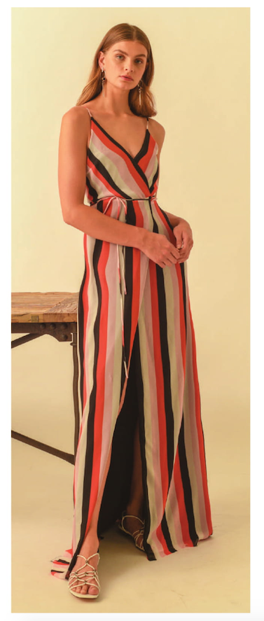 Karina Grimaldi Wrap Maxi Dress