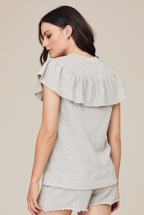 David Lerner Sparkle Ruffle Top