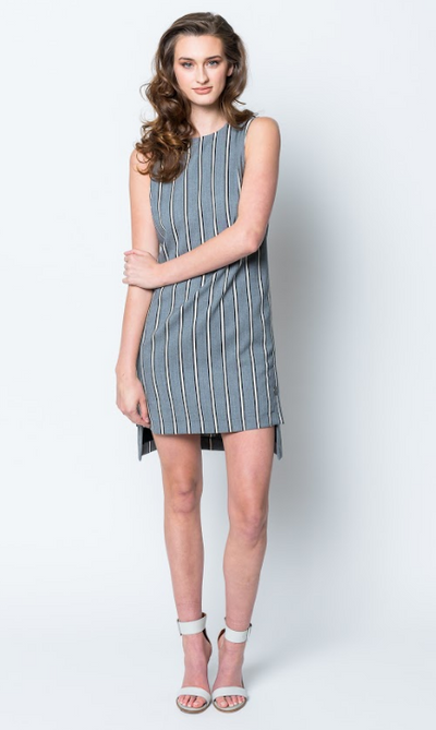 Nicole Miller Striped Woven Shift Dress