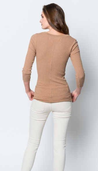 Enza Costa Military Rib Henley