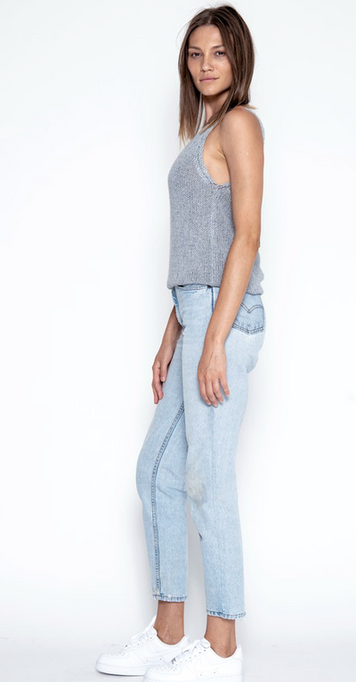 One Grey Day Vance Tank in Denim