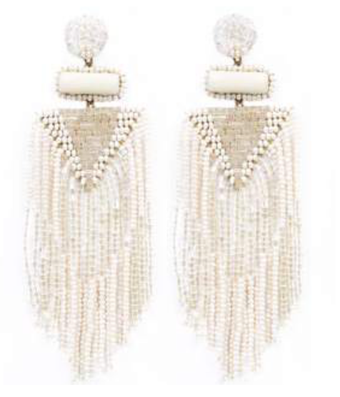 Deepa Gurnani Jody Earrings in Ivory
