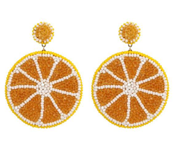 Deepa Gurnani Lemon Earrings