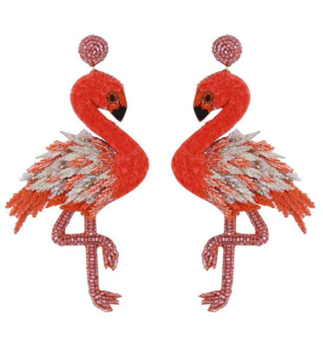 Deepa Gurnani Flamingo Earrings