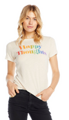 Chaser Happy Thoughts Cotton Jersey Basic Tee
