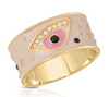 Joy Dravecky Enamel Evil Eye Ring