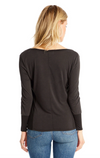 Saltwater Luxe V Neck Sleeve Seam Top